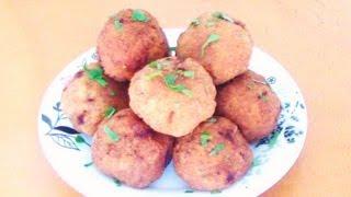 Chiftele umplute cu oua de prepelita - Meatballs stuffed with quail eggs - كفتة محشوة ببيض السمان