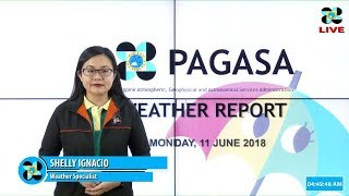Public Weather Forecast Issued at 4:00 AM June 11, 2018
