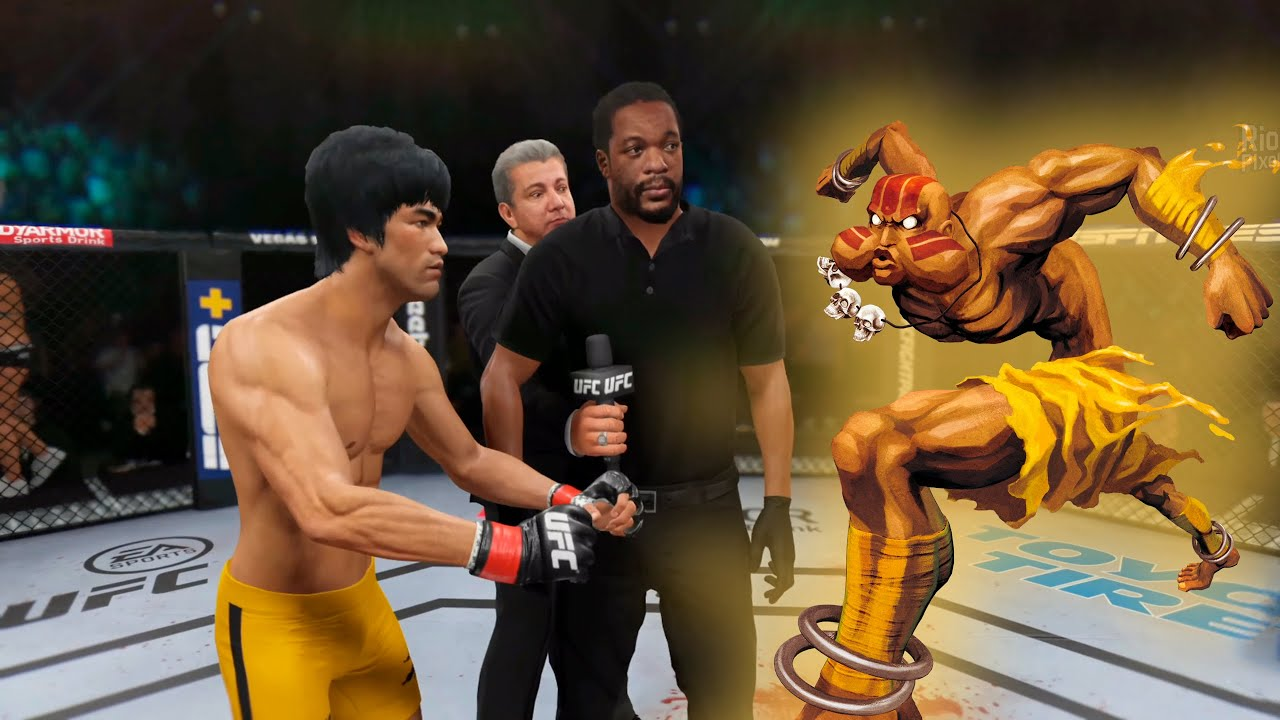 UFC 4 | Bruce Lee vs. Crazy Dhalsim [Street Fighter] (EA Sports UFC 4)