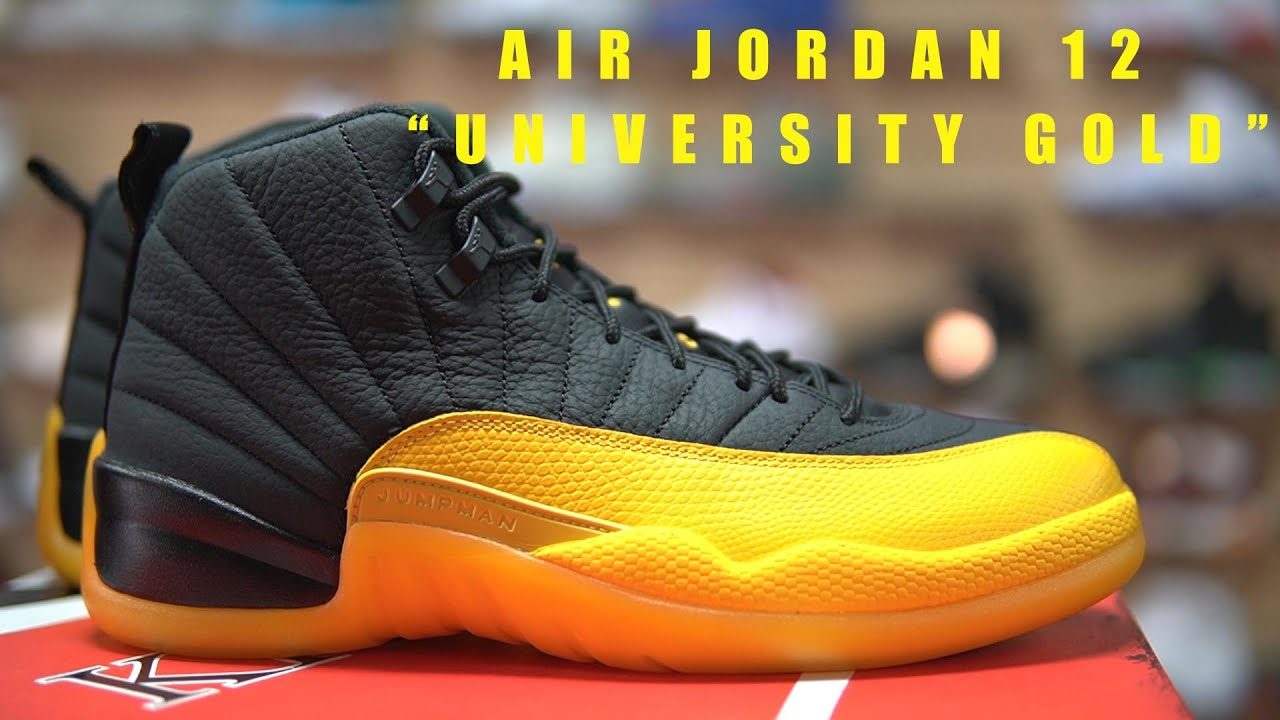 First Look Nike Air Jordan 12 University Gold In Hand And On