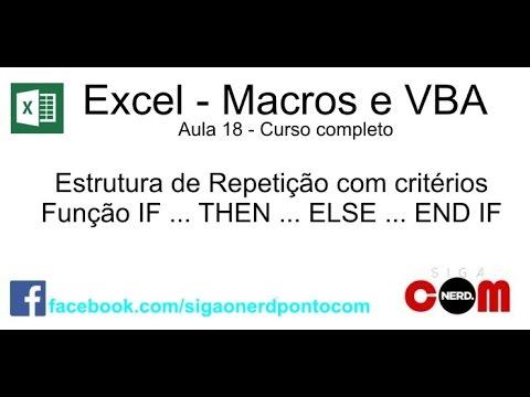 18 curso de macros e excel vba if then else youtube18 course macros and excel vba if then else