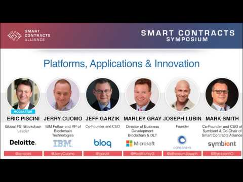 Panel: Platforms, Applications, & Innovation - Smart Contracts Symposium