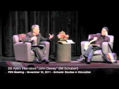 """Bill Ayers interviews """"John Dewey"""" (Bill Shubert) at the 2011 PEN Meeting, part 2/9"""