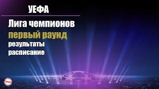 Лига Чемпионов 2019 / 2020. Обзор результатов 1 раунда + расписание.