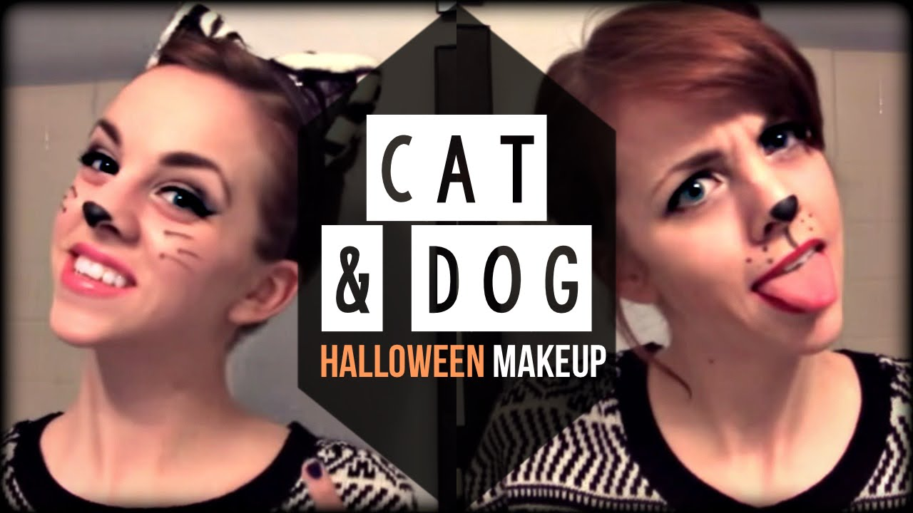 Cat Dog Glam Halloween Hair Make Up Tutorial Kimtrovert Youtube