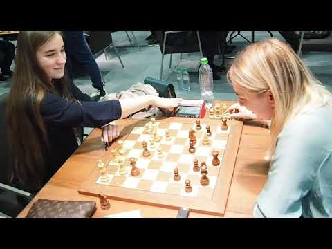 Chess Girls WGM Olga Badelka - WGM Alina Bivol
