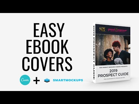 How To Make A 3D EBook Cover | Canva & Smartmockups Tutorial
