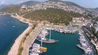 Antalya Kaş Kalkan plaj Deniz Çarşı Manzara Dji Multikopter Yat Limanı Havadan Çekim Video Cen Türki