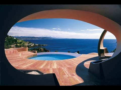 private villa of pierre cardin for rent in theoule cote d 39 azur palais bulles youtube. Black Bedroom Furniture Sets. Home Design Ideas