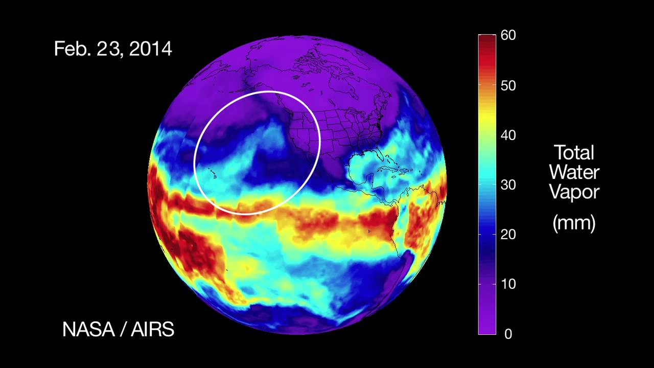 NASA's AIRS Sees Rivers of Rain for California