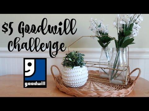 $5 GOODWILL CHALLENGE | SUMMER DECOR