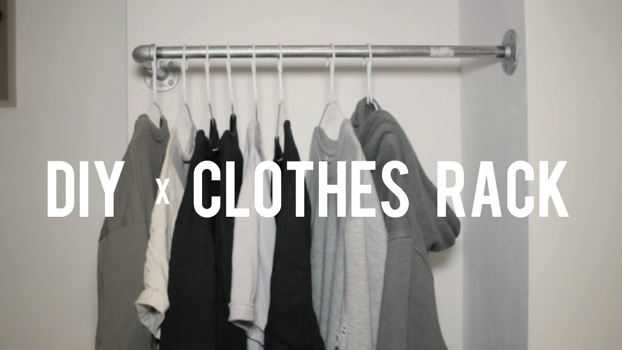 Design Diy Clothes Rack diy clothes rack youtube