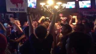 Buffalo Bills Victory Celebration at Busby