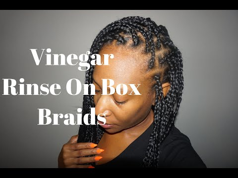 Trying Out The Vinegar Rinse On Kanekalon Braids