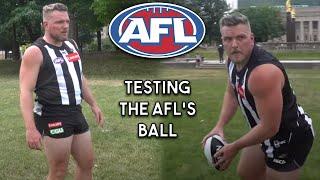 Pat McAfee Tests The Australian Football League's Ball