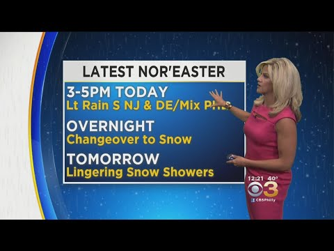 Monday Midday Weather Update: Latest Nor'easter