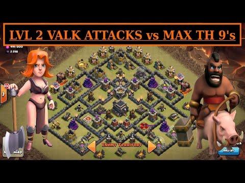Low Level VALK & HOGS vs MAX TH9.