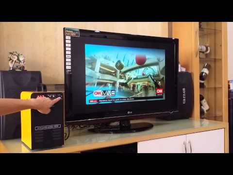 Solar Power Generator power up a 42 Inch LCD TV
