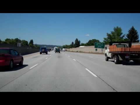 Westbound Interstate 90 In Spokane, Washington