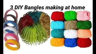 3 DIY unique khada bangle making at home