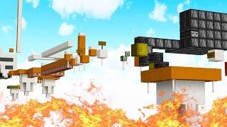 Minecraft CUSTOM PRESTONPLAYZ FIRE PARKOUR!