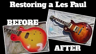 TRASHED Gibson Les Paul Guitar is Rebuilt! - Complete Time lapse Video