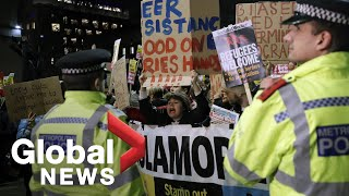 UK Election: Anti-Boris Johnson protesters clash with police in London