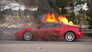 EPIC Burnout Fails COMPILATION!  [ CARS ON FIRE ] - 2013