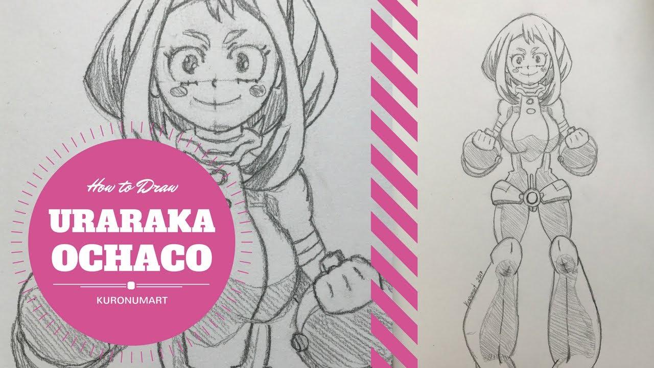 How To Draw Uraraka Ochaco Youtube