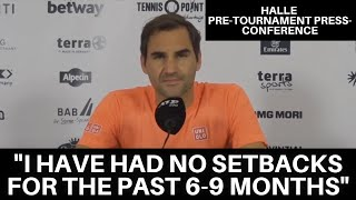 """Roger Federer: """"The Grass is Where My Season Starts""""   Halle 2021 Pre-Tournament Press Conference"""