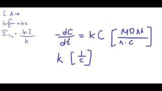 Физическая химия #3. Первый, второй и третий порядки химической реакции. Времена полупревращения