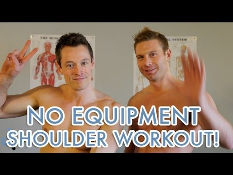 at home shoulder exercises no equipment or weights