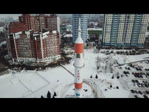 Самара Октябрьский район монумент ракета-носитель «Союз»