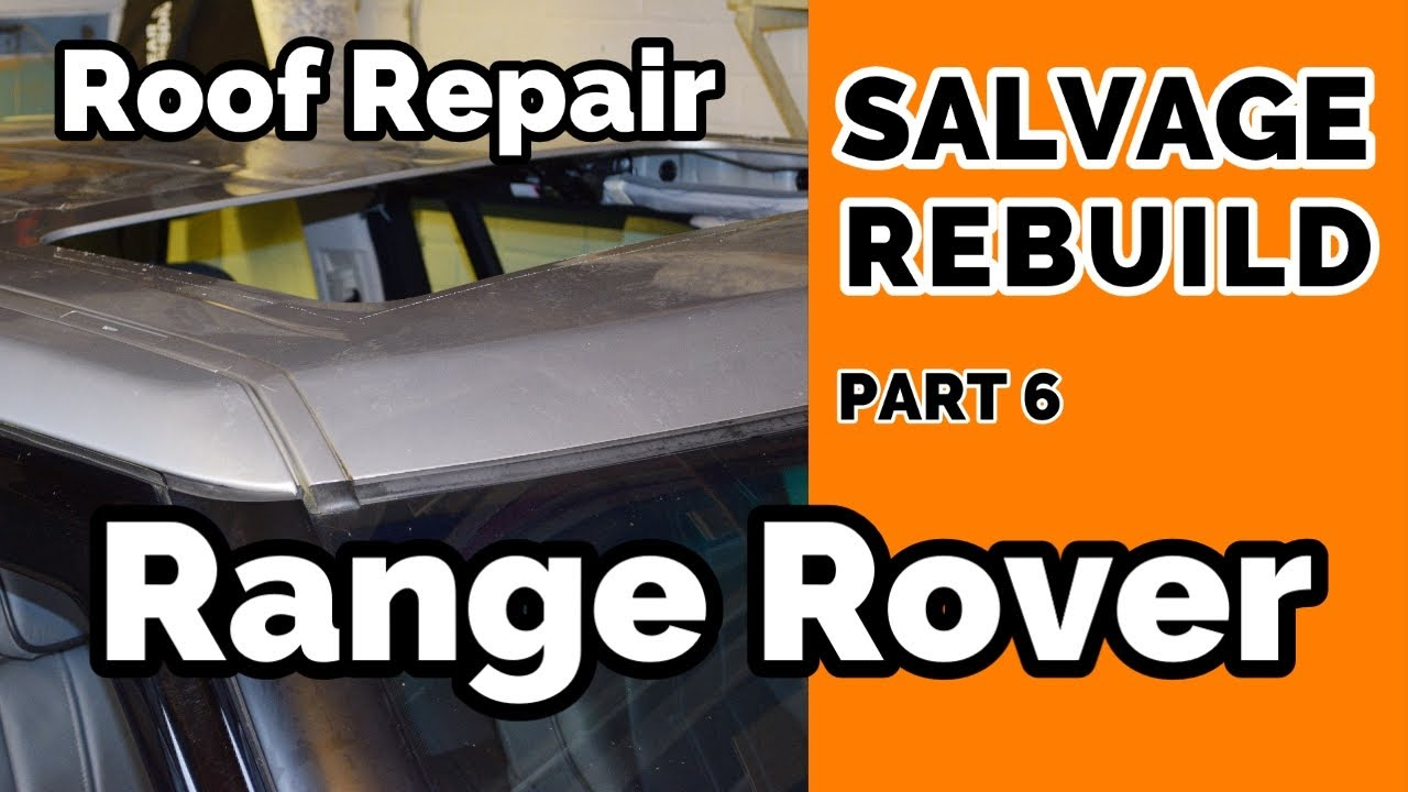Salvage Range Rover Roof Panel Repair Begins