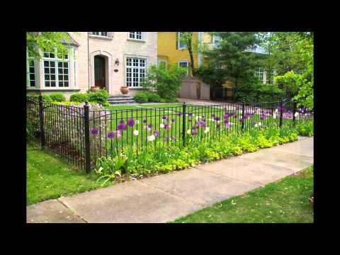 Wood Vinyl Chain Link Split Rail Wrought Iron Fence Designs Youtube