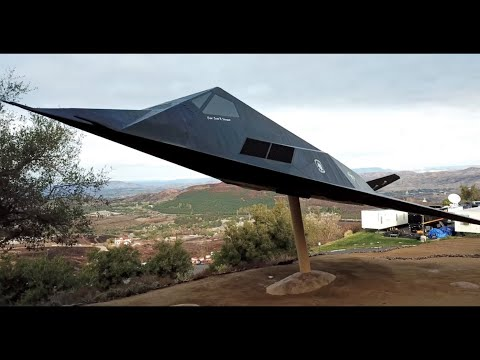 Peace Through Strength: F-117 Display at Ronald Reagan Presidential Library