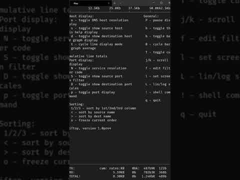 Linux Network Bandwidth Tracking with IFtop #shorts