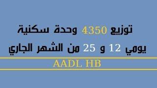 السكن : توزيع 4350 وحدة سكنية  يومي الـ 12 و 25 ديسمبر من شهر ديسمبر