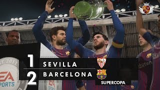 BARCELONA 2 x 1 SEVILLA NO FIFA 18 - SUPERCOPA DA ESPANHA   NARRAÇÃO DE ROGÉRIO VAUGHAN