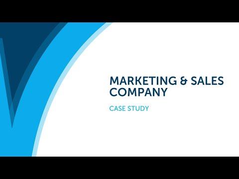 Case Study - Marketing & Sales company