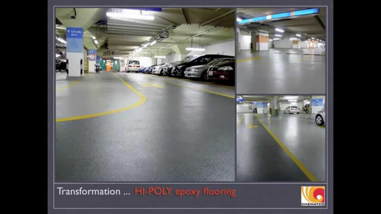 Hong Kong Times Square Car Park Epoxy Flooring - YouTube
