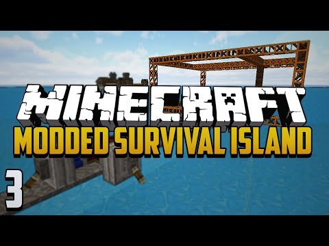 Minecraft Modded Survival Island - Ep.3 - Triple Smelting & The Quarry!
