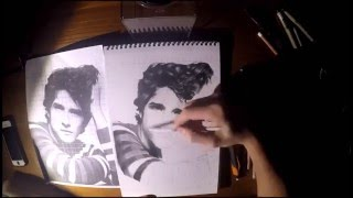 Tyler Posey (Scott McCall) drawing
