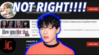 K-pop lyric channels are stealing from K-Pop artists...