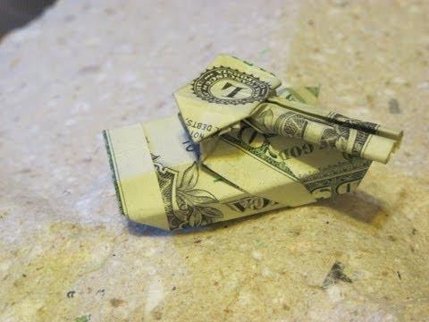 Dollar Origami: Esseltine Battle Tank