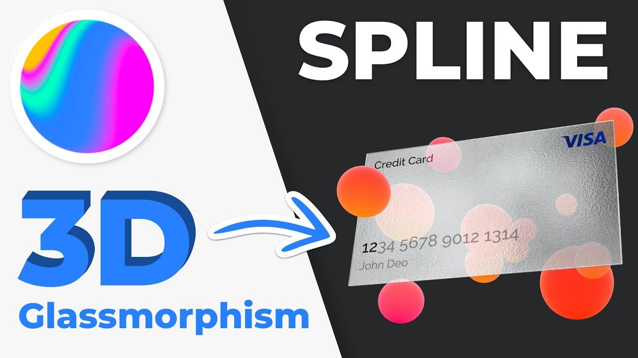 Trying out 3D Glassmorphism in Spline Design