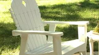 East Cottage Adirondack Rocking Chair And Side Table White - Product Review Video