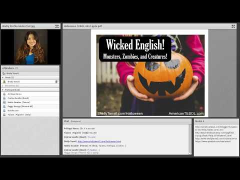 Halloween Activities for Language Learners, #TESOL Webinar