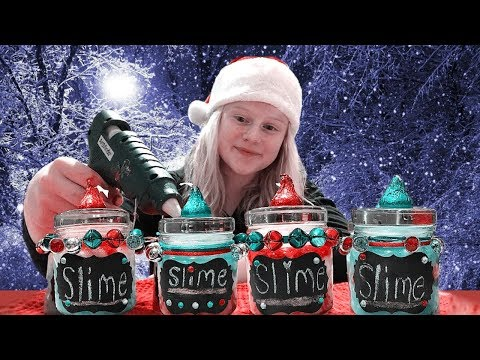 DIY Christmas Slime Gifts!