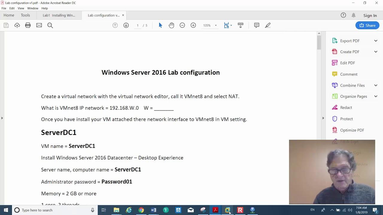 Installation of Windows Server 2016